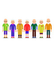 group older people adults person stand next to vector image
