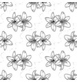 hand drawn lily seamless pattern vector image vector image