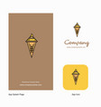 ice cream company logo app icon and splash page vector image