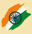 india flag design vector image