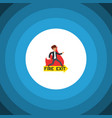 isolated fire exit flat icon emergency vector image vector image