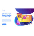 javascript concept landing page vector image vector image