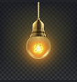 light bulb retro loft light bulb symbol vector image