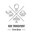 line banner air transport vector image