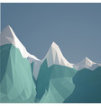 low poly ice mountain design vector image