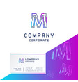 m company logo design with visiting card vector image vector image