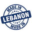 made in lebanon vector image vector image