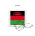 Malawi Flag Postage Stamp vector image vector image