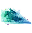 male athlete riding a horse in steeplechase race vector image