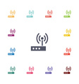 modem flat icons set vector image