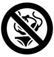 no bikinis forbidden sign modern round sticker vector image