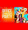 office christmas party businesspeople team vector image