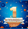 one years anniversary celebration design vector image vector image