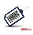 price tag with bar code on white background vector image vector image