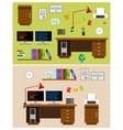 programmer office space vector image vector image