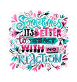 react with no reaction vector image vector image
