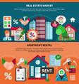 real estate banner set vector image vector image