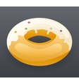 Realistic Donut Fast Food Icon Retro Cartoon vector image vector image