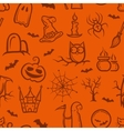 retro graphical Halloween pattern vector image vector image
