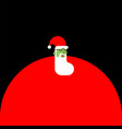 santa claus zombie christmas grandfather horror vector image vector image