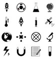science icon set vector image