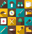 Set of Flat Style Travel Icons with Long Shadow vector image vector image