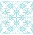 set seamless floral ornament vector image