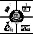 Shopping design vector image vector image