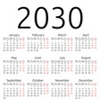 simple calendar 2030 monday vector image vector image