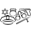 simple with a set police items vector image