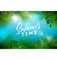 summer time with typography letter vector image vector image