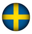 Sweden flag button vector image vector image