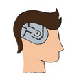 technology artificial brain vector image