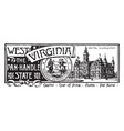 the state banner of west virginia the panhandle vector image vector image