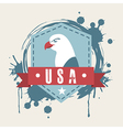 usa design over pink background vector image vector image