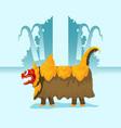 walking traditional lion dancer vector image vector image