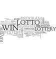 win that lotto review good or bad text word cloud vector image vector image