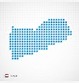 yemen map and flag icon vector image vector image