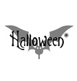 Greeting card or invitation Halloween on white vector image