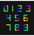 Set of rainbow numbers vector image