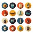 Set of flat design Halloween icons vector image