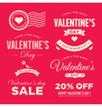 valentines day set labels vector image