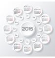 2015 White circular calendar vector image vector image