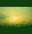 abstract low poly green bright technology vector image