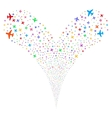 Airplane Double Fireworks Stream vector image vector image