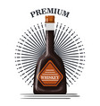 best whiskey bottle label vector image