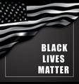 black lives matter banner background vector image vector image