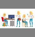 business woman character female in vector image vector image