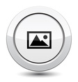 Button with mountain vector image vector image