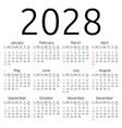 calendar 2028 sunday vector image vector image